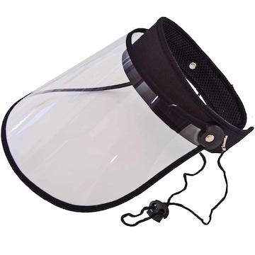 晴雨兼用 UVカット ワイド クリア サンバイザー レギュラー