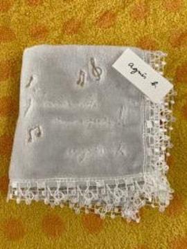 アニエス・ベー タオルハンカチ レース音符