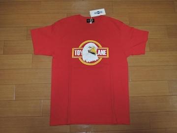 新品TOY PLANEトイプレーンTシャツS赤イーグルロゴコンドル