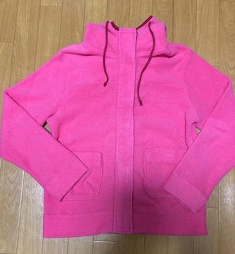 美品 フリースパーカー ピンク
