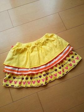中古DISスカート110黄ベビードールBABYDOLLベビド