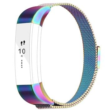 Fitbit Alta HR/Fitbit Alta バンド ステンレス カラフル Large