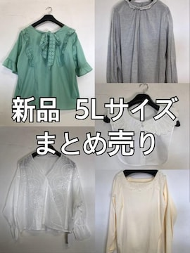 新品☆5Lフェミニン可愛いまとめ売り♪☆m377