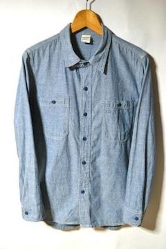 キャブクロージング シャンブレーシャツ 長袖 ブルー M メンズ