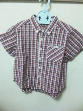 男児★チェックの半袖シャツ★100〜美品(*^^*)