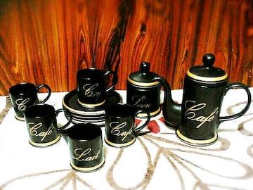 高級 カップ&ソーサー ティーセット たち吉 黒 ティーカップ
