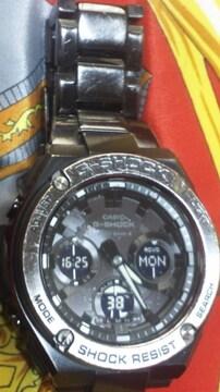 カシオGショックG-STEELタフソーラー電波腕時計GST-W110BD定62700円