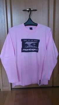 激安86%オフモンタージュ、長袖Tシャツ(美品、限定、ピンク、M)