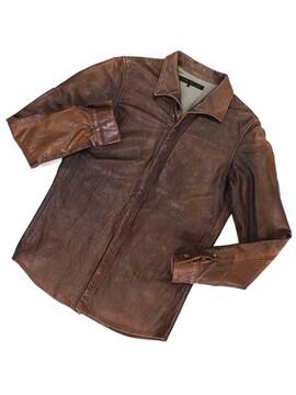希少◆OURET◆レザーシャツジャケット◆オーレット