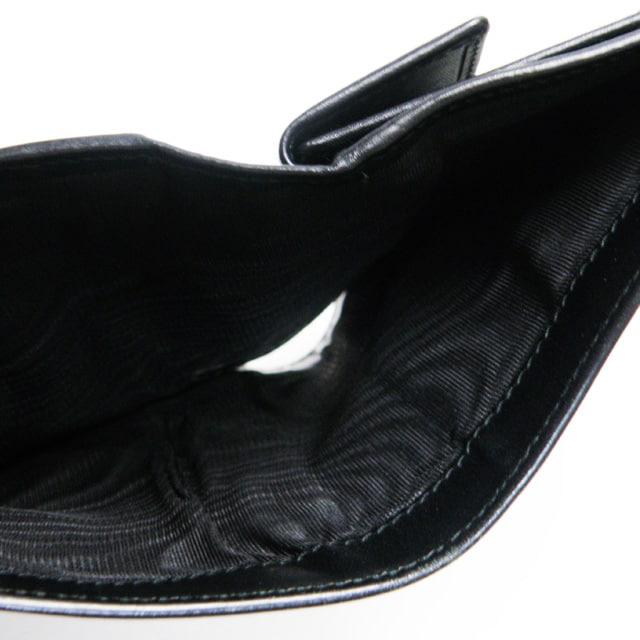 フェラガモ 二つ折り財布 コンパクト財布レザー黒 良品 正規品 < ブランドの
