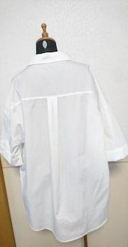 Vis★未使用タグ付き★ ゆったりシャツ白