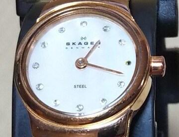 SKAGEN スカーゲン 502XSRR クォーツ 腕時計 レディース 白蝶貝