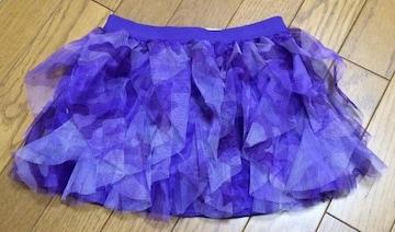 Я】インポートカモフラ柄 紫 スカート 4Tサイズ チュチュ