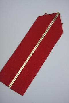 成人式卒業式振袖着物に♪リバーシブル重ね衿赤&ゴールド金