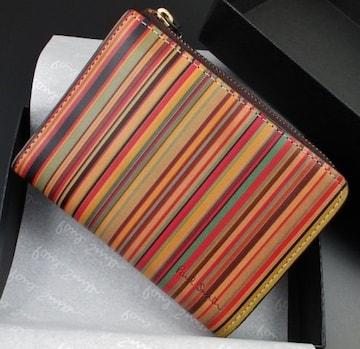 新品/箱付 ポールスミス 人気ヴィンテージマルチ 折り財布 f56