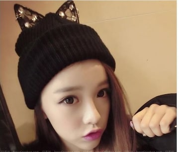 キュートパンクの猫耳ニット帽