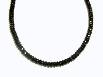 ◆ブラックスタイル◆漆黒パワーストーン・ブラックスピネル8mmネックレス