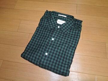 新品ギャンバートGAMBERT CUSTOM SHIRTチェックシャツ緑黒USA製