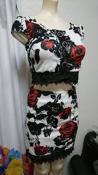 Rich or Die 薔薇柄 セパレート ナイトドレス