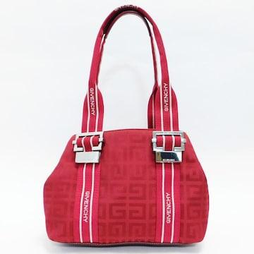 美品GIVENCHY ジバンシィ ハンドバッグ Gロゴ 赤 良品 正規品