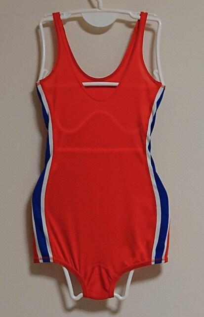 J1002 スポーツウェア/SPEEDO 赤いワンピース旧型競泳水着 < キッズ/ベビーの