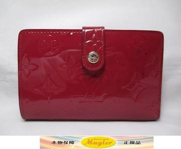 ルイヴィトン ヴェルニ モノグラム がまぐち財布 がま口 レッド