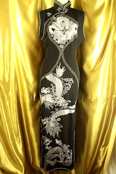 ★最高級★ドラゴン刺繍★チャイナドレス★定¥158.000★