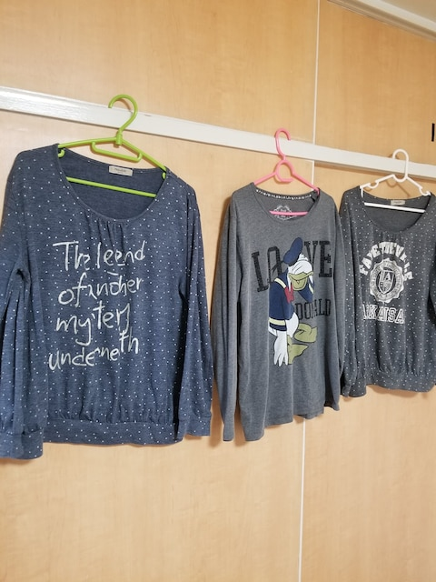 ★ビジュドナルド可愛い長袖3枚まとめて★LLサイズ★  < 女性ファッションの
