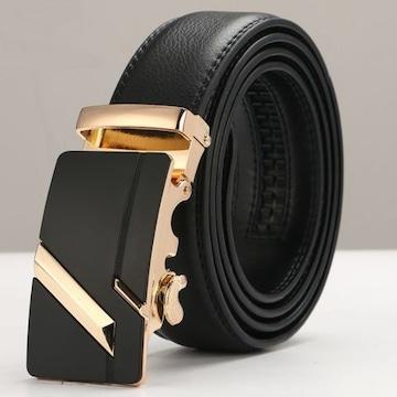 ベルト 本革 オートロック 高級ベルト 110cm〜125cm 650