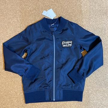 新品タグ付き140薄手長袖アウタージャンパー紺�E