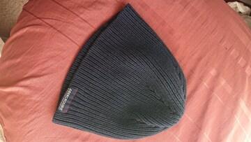 アバクロ ニット帽 ネイビー色