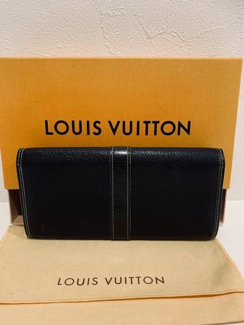 ◆正規品◆ 超美品◆ ルイヴィトン スハリ 高級山羊革 黒 長財布