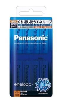 パナソニック eneloop 単3形充電池 8本パック
