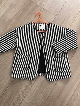 美品ストライプジャケット11韓国子供服オシャレ