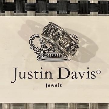 新品◆JUSTIN DAVIS◆MY LOVE RING◆薔薇クラウンリング◆21号◆
