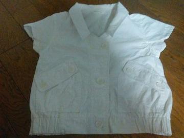 LOWRYS FARM Mサイズ 美品 白 半袖ブレザー 綿