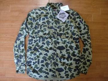 定価148ドル カーハート 迷彩 シャツ USA−S 新品