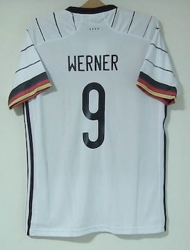 新品☆ヴェルナー☆ドイツ代表☆白9番半袖☆ユーロ2020ベルナー