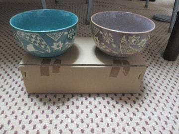 【新品未使用】茶碗 夫婦茶碗 2個セット 陶器