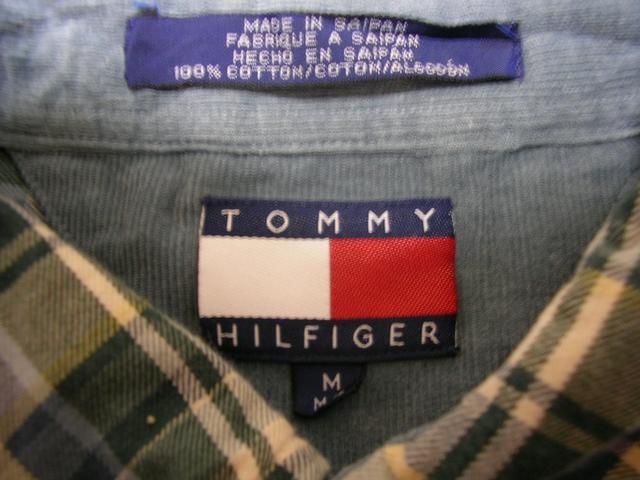 即決USA古着トミーヒルフィガーチェックネルシャツ!アメカジレア < ブランドの