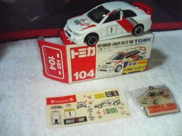 赤箱 WRC 三菱ランサーエボ4 #1  マキネン 1997  初回限定メタルバッチ