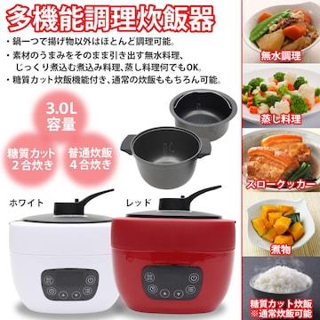 多機能炊飯器 糖質カット炊飯機能搭載 NC-F180 白