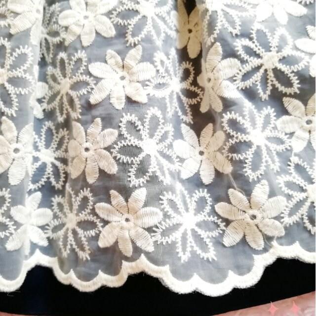 新品☆プライムパターン*ハート刺繍ニット&花刺繍スカートset < ブランドの