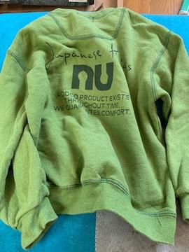 nu☆グリーン☆シンプルトレーナー☆サイズ110