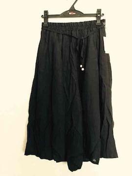 《新品》スカーチョ 7分丈 Lサイズ ブラック