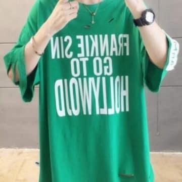 LLXL3L/新品☆半袖ダメージTシャツ80