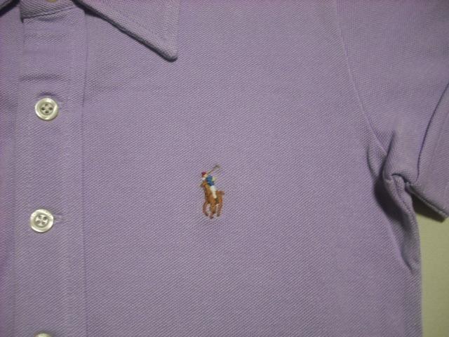 wr259 女 RALPH LAUREN ラルフローレン 半袖ポロシャツ XSサイズ < ブランドの
