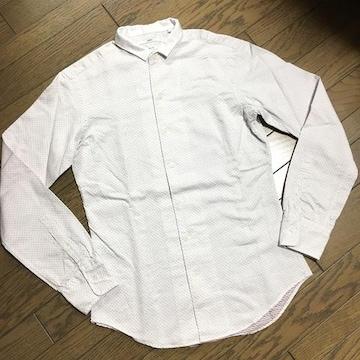 美品SHIPS ドット柄シャツ 日本製 シップス