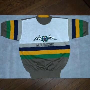 ピアスポーツ PIA SPORT ロゴ刺繍 サマーセーター 半袖