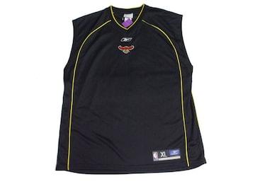 セール新品Reebokリーボック★ATLANTA HAWKS☆ゲームシャツXLブラック